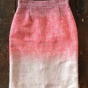 Antonio Melani Pink Ombre Bertie Pencil Skirt sz 4